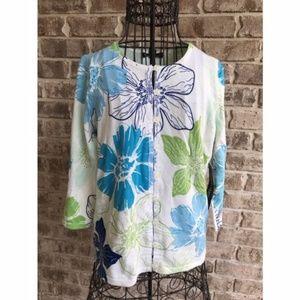 Designers Originals Cardigan Floral NWT Vintage